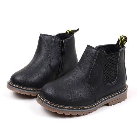 DZT1968® Children Fashion Boys Girls Martin Sneaker Boots Kids Baby Casual Shoes