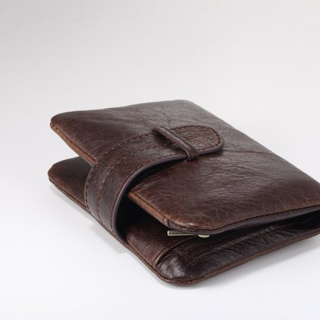 519 Men'S Handmade Pu Leather Long Wallet Retro Zipper Men And Women Handbag - image 2 of 9
