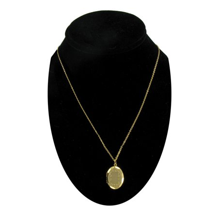 Classic Gold Tone Locket Necklace 18