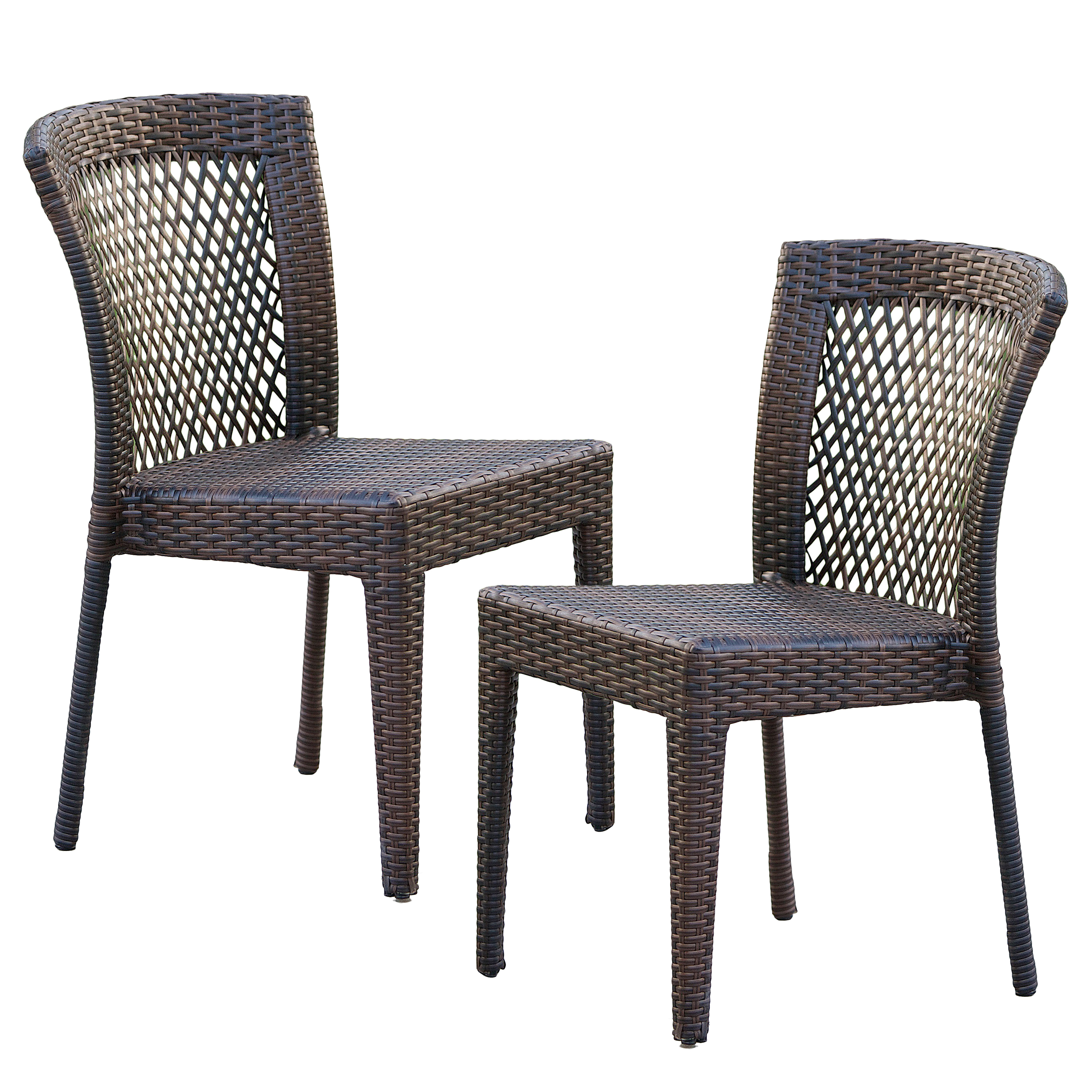 Dawn Outdoor Wicker Chairs (Set of 2) by GDF Studio