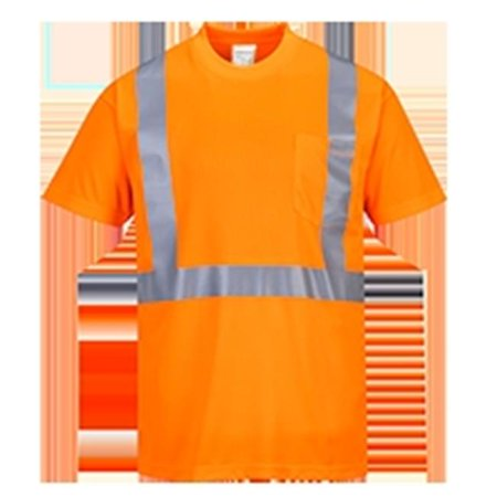 - S190 5XL Hi-Visibility Pocket T-Shirt, Orange - Regular