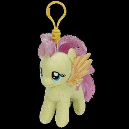 Ty Inc - Beanie Babies - Clip-On - My Little Pony - Fluttershy - 3