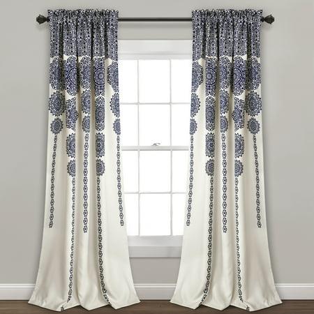 Stripe Medallion Room Darkening Window Curtain (Best Wallpaper For Dining Room)