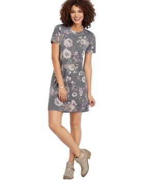 67ad19b707 Product Image Faded Floral T-Shirt Dress