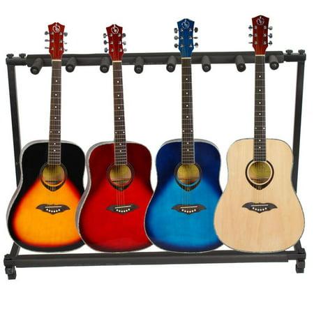 Zimtown 3 5 7 9 Triple Folding Multiple Guitar Bass Holder Rack Stand
