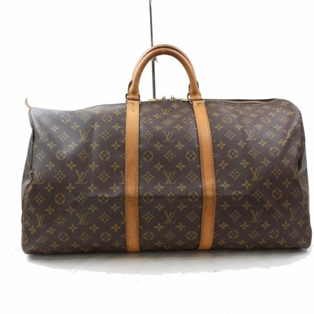8b2c53d1f louis-vuitton Duffle Keepall Monogram 60 Gym M868956 Brown Coated Canvas  Weekend/Travel Bag - Walmart.com