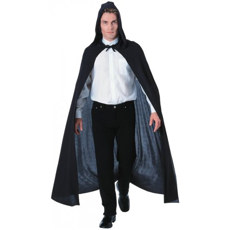 Hooded Cloak Adult Costume Accessory Black