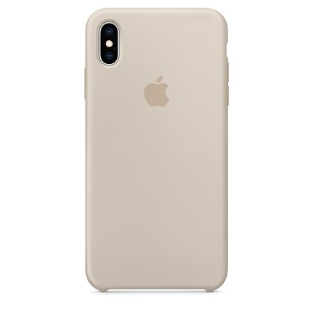 watch a0172 23f92 Apple Silicone Case for iPhone XS Max - Stone - Walmart.com