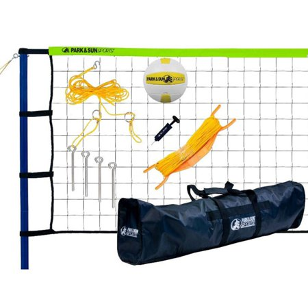Park & Sun Spiker Sport Steel Volleyball Set w/Green Net