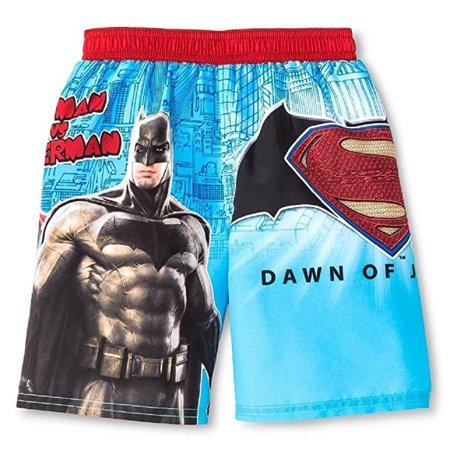 c08267b039 DC - DC Comics Little Boys' Toddler Batman vs Superman Swim Trunks -  Walmart.com