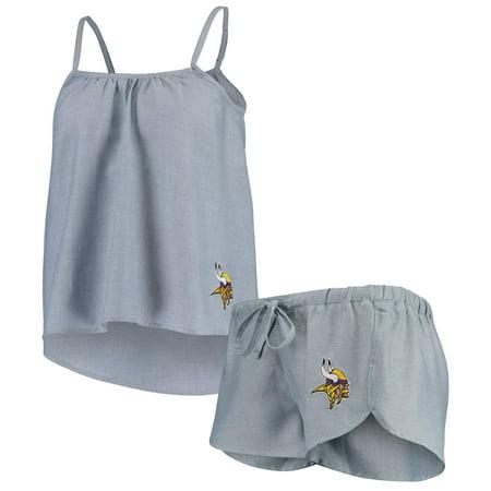 Minnesota Vikings Concepts Sport Women's Breakaway Tank Top & Shorts Pajama Set - Blue