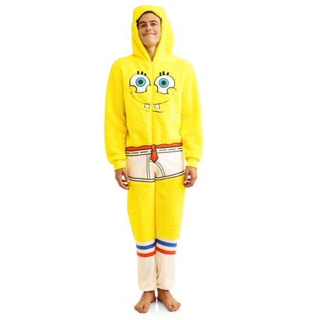 62e3387e75e5 Onesie - Spongebob Men s Onesie Unionsuit Spongeb - Walmart.com
