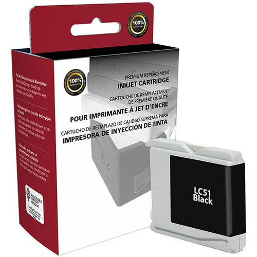 CIG Remanufactured Black Ink Cartridge (Alternative for Brother LC51BK) (500 Yield)