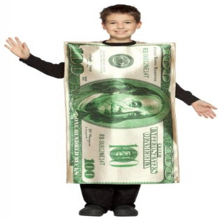Rasta Imposta Childrens Costume, $100 Bill, 7-10](Bill Costume)