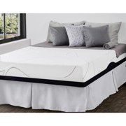 Priage  10-inch Queen-size Gel Memory Foam Mattress and SmartBase Foundation Set - Whie