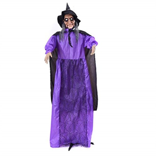 Amosfun Halloween Witch Decorations Standing Animated