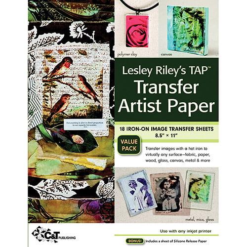 "C&T Publishing Leslie Riley's TAP Transfer Artist Paper, 8-1/2"" x 11"", 18/pkg"
