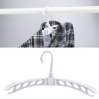 Fugacal Folding Hanger, Portable Clothes Hanger,Extensible Folding Clothes Overcoat Hanger Holder Portable Travel Clothes Drying Rack