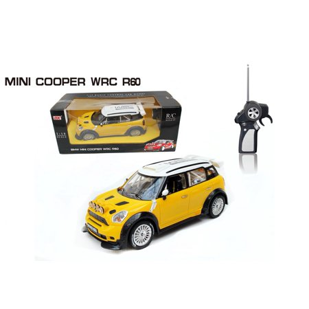 1 18 bmw mini cooper wrc r60 radio remote control car rc rtr w lights yellow. Black Bedroom Furniture Sets. Home Design Ideas