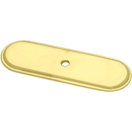 (10 Pack) Knob Backplate Brass Plated - 3