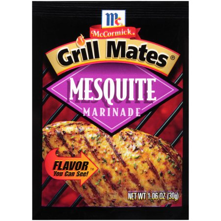 (4 Pack) McCormick Grill Mates Mesquite Marinade, 1.06 oz