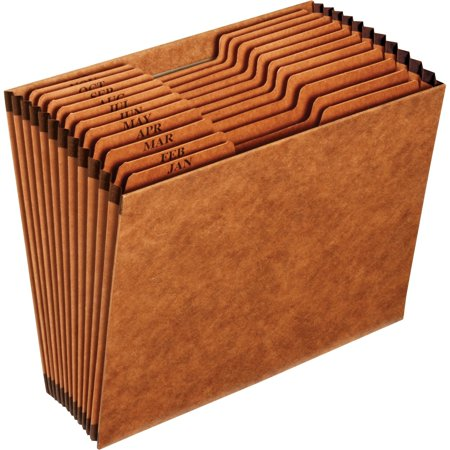 Pendaflex, PFXR217MHD, Open Top Monthy Expanding File, 1 Each, Brown