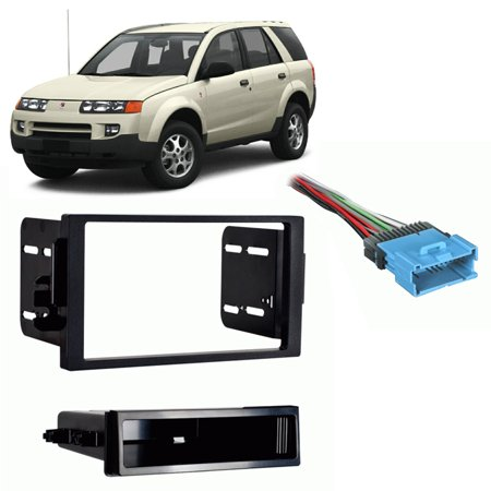 Fits Saturn Vue 2004-2005 Single DIN Stereo Harness Radio Install Dash Kit (Vue Stereo)