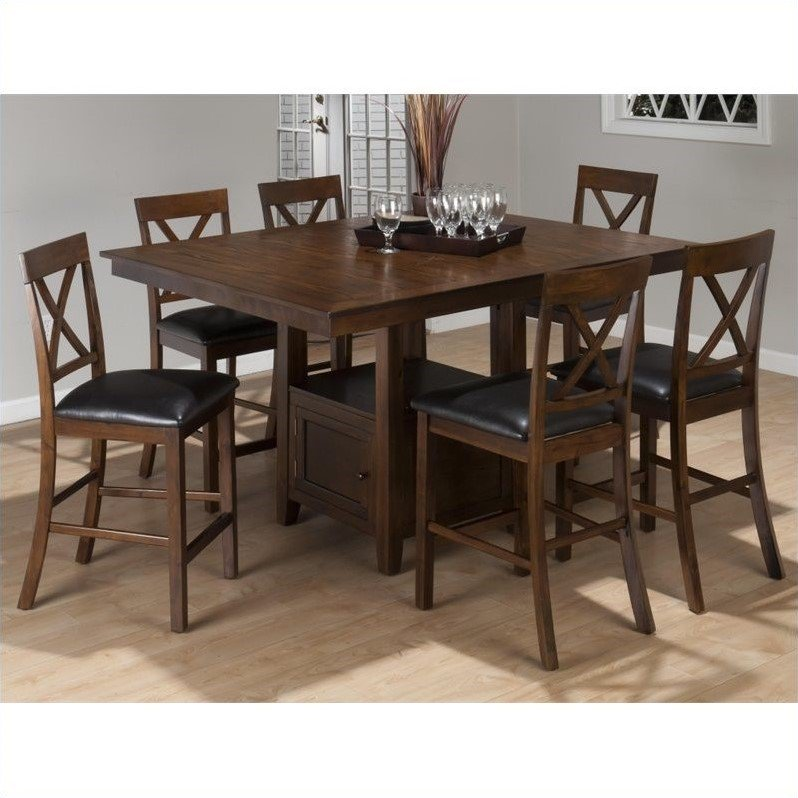 Jofran 7 Piece Counter Height Dining Set in Olsen Oak