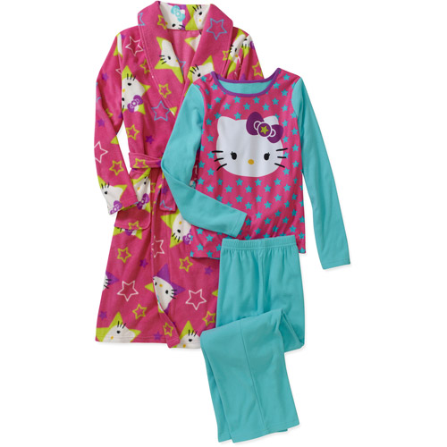 Hello Kitty Girls' 3 Piece Robe Set