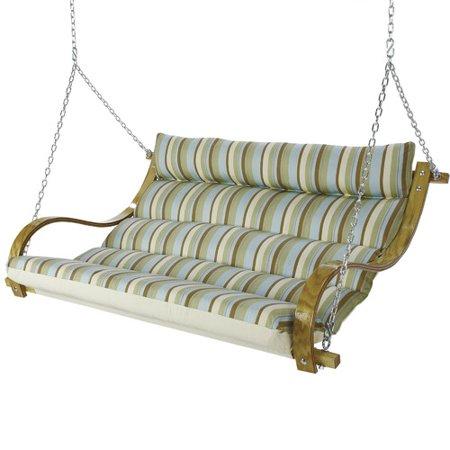Laude Run Laduke Deluxe Cushioned Double Porch Swing