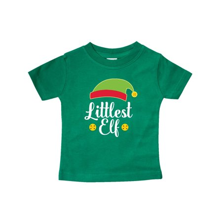 Christmas Littlest Elf Holiday Baby T-Shirt (Christmas Toddler T-shirt)