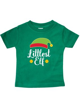 Christmas Littlest Elf Holiday Baby T-Shirt