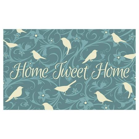 Toland Home Garden Home Tweet Home Doormat - Polyester / Rubber