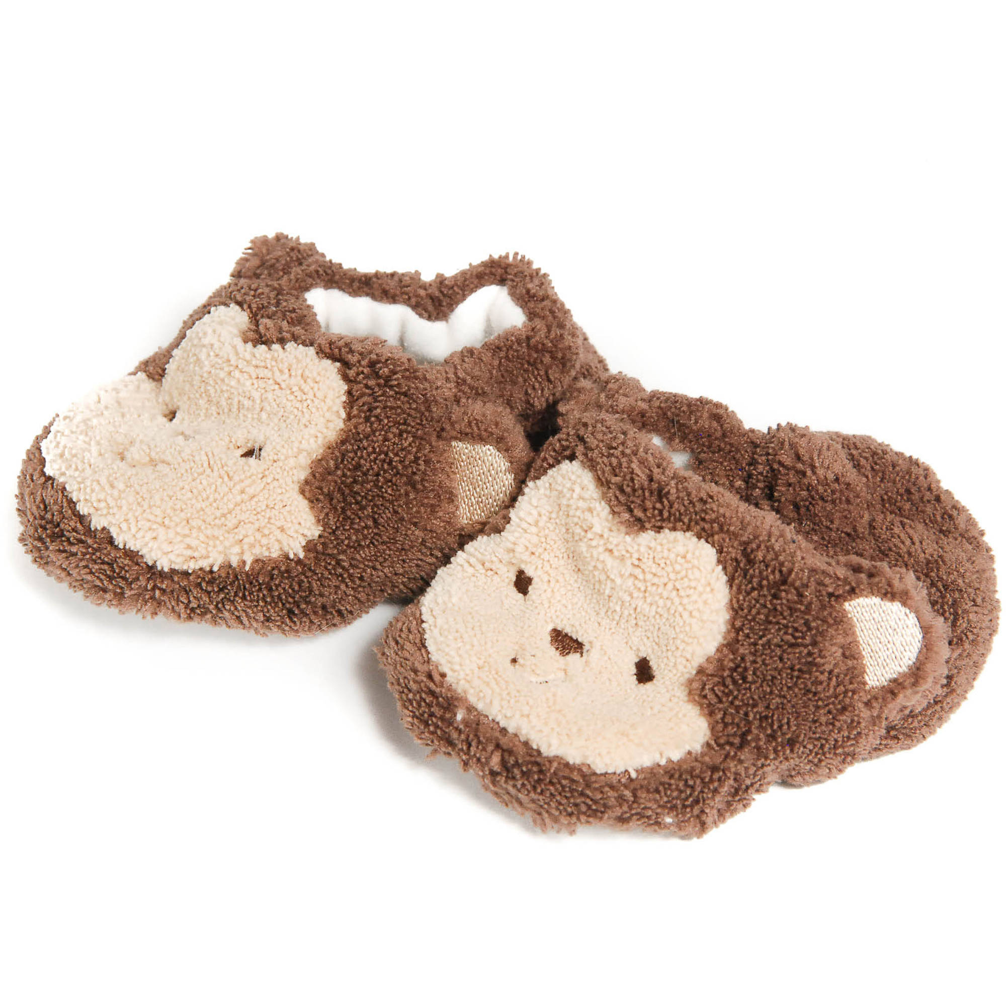 Child of Mine Baby Boys' Plush Bear Slippers