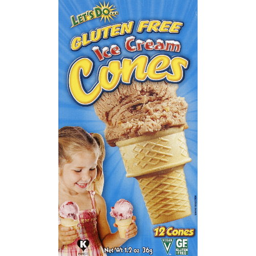 Edward & Sons Let's Do&Gluten Free Ice Cream Cones, 12ct (Pack of 12)