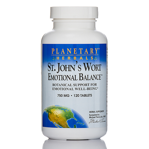 St. John's Wort Emotional Balance 750 mg - 120 Tablets by Planetary Herbals