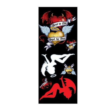 Angel & Devil Hearts Window Decal Sticker for Car/Truck/Motorcycle/Laptop 6547 (Angel And Devil Costumes For Couples)