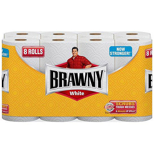 Brawny White Paper Towels, 8ct