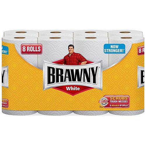 Brawny White Paper Towels, 8ct