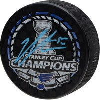 Jordan Binnington St. Louis Blues 2019 Stanley Cup Champions Autographed Stanley Cup Champions Logo Hockey Puck - Fanatics Authentic Certified