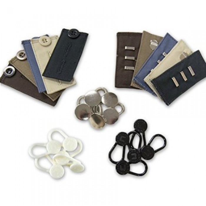 More of Me to Love 25-Pack Pant Extender Kit with Button Pant Extenders and Waistband Extenders