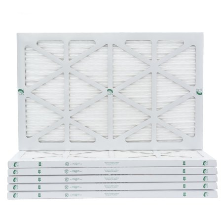 6 Pack of 16x25x1 MERV 10 Pleated Air Filters by Glasfloss. Actual Size: 15-1/2 x 24-1/2 x 7/8 ()