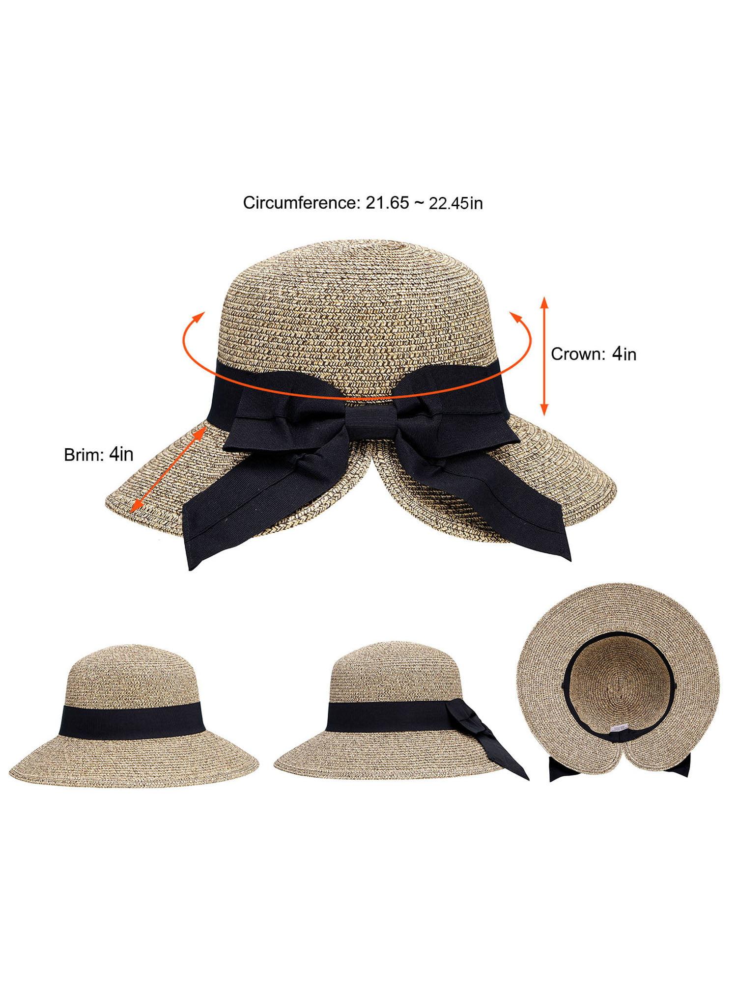 Women Reversible Embroidery Wide Brim Caps Packable Floppy Beach Sun Hats-Multi Patterns SINLOOG Bucket Hats