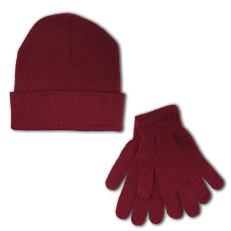 Women's Winter Beanie Hat Gloves Bundle Warm Set