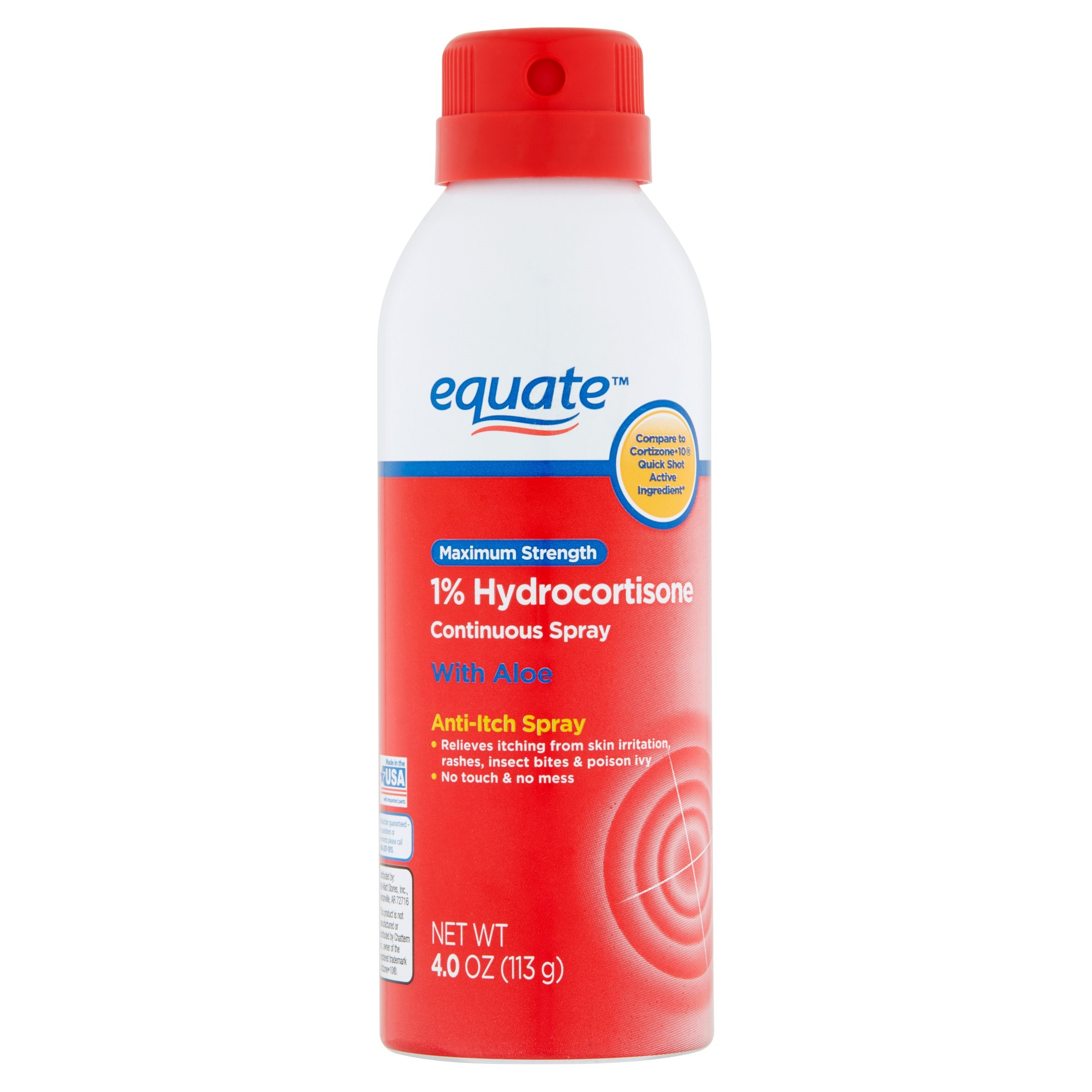 Equate Maximum Strength Anti Itch Hydrocortisone Spray, 4 Oz