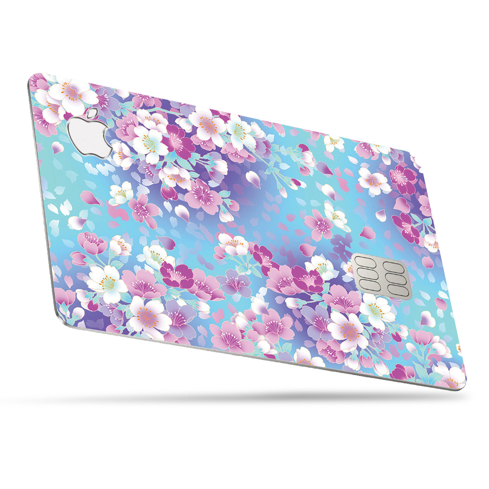 floral skin for apple card  protective durable and