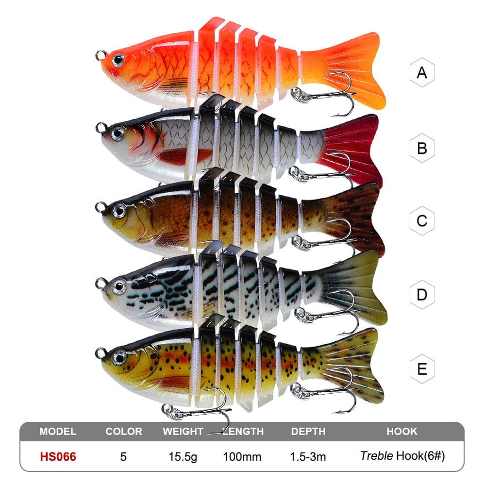 Multi Jointed Fishing Lures 6PCS Sinking Wobblers Swimbait Hard Bait Crankbait