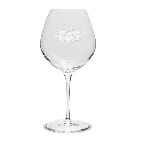 Claddagh Ring Logo Luigi Bormioli 22 oz Titanium Robusto Wine (Robusto Gift)
