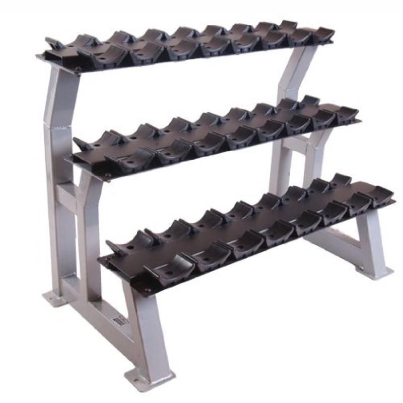 CAP Barbell 3 Tier 43 Dumbbell Rack w/Saddles
