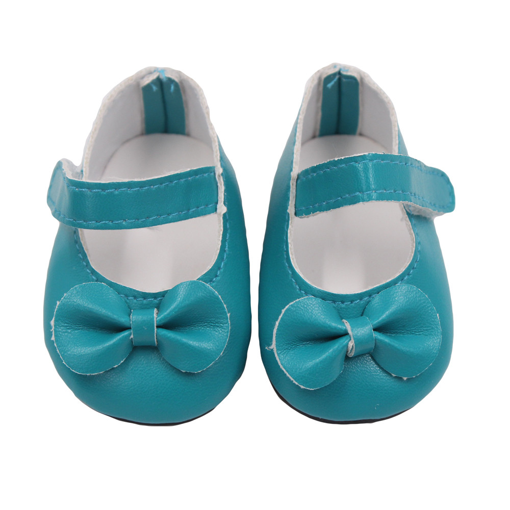 Glitter Doll Shoes Bow Dress Shoes For 18 Inch Our Generation American Girl Doll